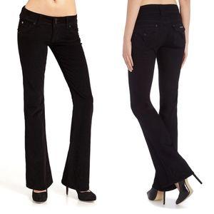 Hudson Signature Bootcut Jeans Black Pocket Flap